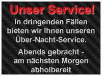Über Nacht Service